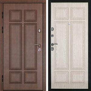 Дверь входная металлическая  Консул левая 860×2050 мм снаружи МДФ Венге внутри МДФ Беленый дуб