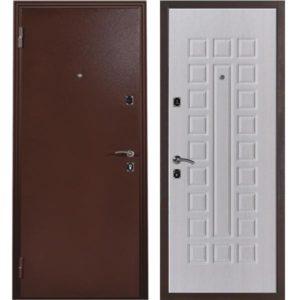 Дверь входная металлическая Меги 131 левая 2050х870 мм снаружи металл Медный антик внутри внутри МДФ 0586 Беленый дуб