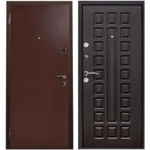 Дверь входная металлическая Меги 131 левая 2050х970 мм снаружи металл Медный антик внутри внутри МДФ 0486 Венге