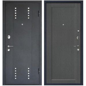 Дверь входная металлическая МеталЮр М26 правая 2050х960 мм снаружи металл Черный бархат внутри МДФ Грувд