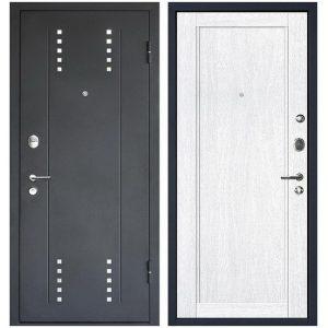Дверь входная металлическая МеталЮр М26 правая 2050х860 мм снаружи металл Черный бархат внутри МДФ Монблан