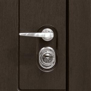 Дверь входная металлическая Промет С4 Дипломат правая 2060х980 мм снаружи МДФ Орех премиум внутри МДФ Ясень горный