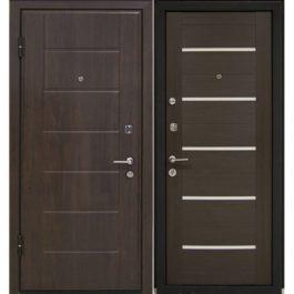 Дверь входная металлическая МеталЮр М7 левая 2050х960 мм снаружи МДФ винорит Темный орех внутри МДФ экошпон Венге