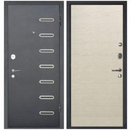 Дверь входная металлическая МеталЮр М29 правая 2050х960 мм снаружи металл Черный бархат внутри МДФ Дуб французский капучино