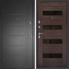 Дверь входная металлическая  Сити-С левая 860×2050 мм Венге