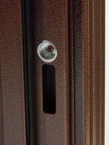 Дверь входная металлическая Меги 541 левая 2050х870 мм снаружи металл Медный антик внутри МДФ Беленый дуб
