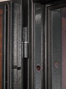 Дверь входная металлическая Меги 601 левая 2050х970 мм снаружи металл Медный антик внутри МДФ 4010 Темный дуб