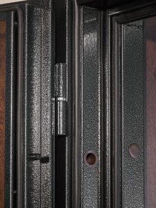 Дверь входная металлическая Меги 601 левая 2050х880 мм снаружи металл Медный антик внутри МДФ 5010 Светлый дуб