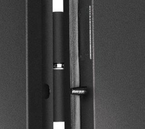 Дверь входная металлическая Промет С1 Аккорд правая 2050х950 мм снаружи металл Черный муар внутри МДФ Дуб Пикар