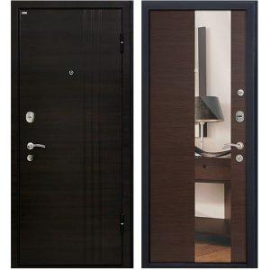 Дверь входная металлическая МеталЮр М15 правая 2050х960 мм снаружи МДФ Эковенге внутри МДФ Грей с зеркалом