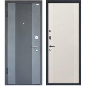 Дверь входная металлическая МеталЮр М27 левая 2050х860 мм снаружи металл Черный бархат внутри МДФ Магнолия сатинат