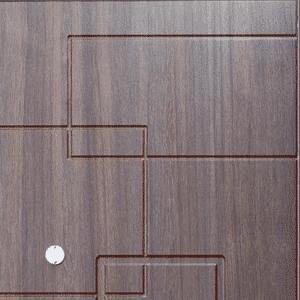 Дверь входная металлическая Промет С4 Камелот правая 2066х980 мм снаружи металл Черный муар внутри МДФ Орех темный