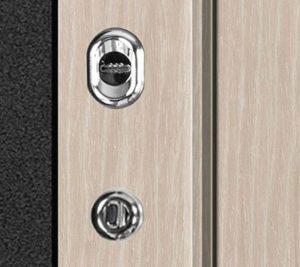 Дверь входная металлическая Промет ПР2 Соломон JM777 левая 2066х880 мм снаружи металл Черный муар внутри МДФ Ель