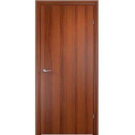 Дверное полотно Verda врезка 2014 с четвертью глухое Итальянский орех 2000х700 мм