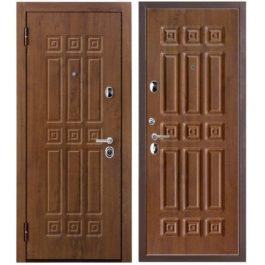 Дверь входная металлическая Меги 617 левая 2050х870 мм снаружи МДФ 78 Темный дуб внутри МДФ 68 Темный дуб
