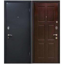 Дверь входная металлическая МеталЮр М21 правая 2050х960 мм снаружи металл Черный бархат внутри МДФ Венге