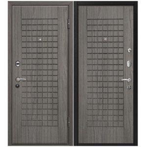 Дверь входная металлическая МеталЮр М4 правая 2050х960 мм снаружи и внутри МДФ винорит Грей