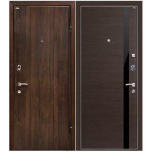 Дверь входная металлическая МеталЮр М6 правая 2050х960 мм снаружи МДФ винорит Венге внутри экошпон Эшвайт кроскут