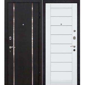 Дверь входная металлическая МеталЮр М8 правая 2050х960 мм снаружи МДФ винорит Черный бархат внутри МДФ экошпон Аляска