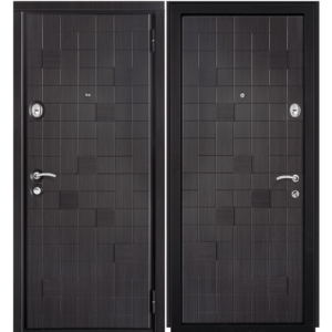 Дверь входная металлическая Сталлер Метро правая 2050х960 мм снаружи и внутри МДФ с пленкой ПВХ Венге