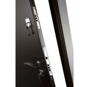 Дверь входная металлическая Меги 131 левая 2050х870 мм снаружи металл Медный антик внутри внутри МДФ 0486 Венге