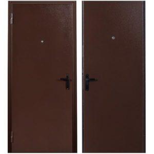 Дверь входная металлическая Меги 64 левая 2050х870 мм снаружи металл внутри металл Медный антик