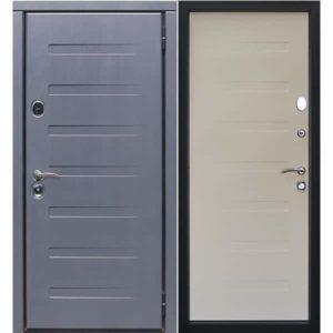 Дверь входная металлическая Сталлер Пиано правая 2050х960 мм снаружи МДФ винорит антрацит внутри МДФ винорит белый