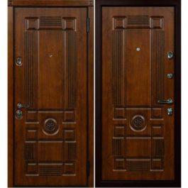 Дверь входная металлическая Сталлер Рим правая 2050х960 мм снаружи и внутри МДФ винорит Дуб темный