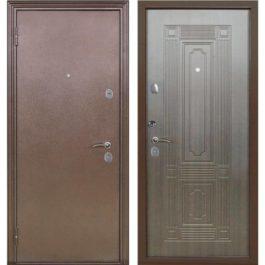 Дверь входная металлическая Меги 541 левая 2050х870 мм снаружи металл Медный антик внутри МДФ Венге
