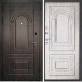 Дверь входная металлическая  Флоренция левая 860×2050 мм снаружи МДФ Венге внутри МДФ Беленый дуб