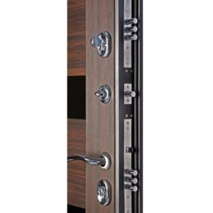 Дверь входная металлическая  Сити-С левая 860×2050 мм Беленый дуб