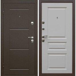 Дверь входная металлическая  Эстет левая 860×2050 мм белая матовая