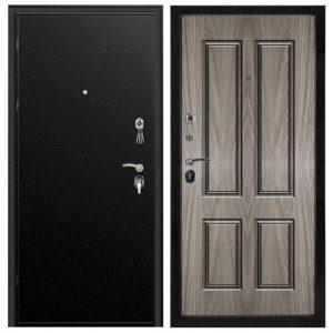 Дверь входная металлическая Промет ПР2 Соломон левая 2066х880 мм снаружи металл Черный муар внутри МДФ Е2882-44