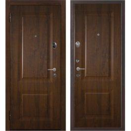 Дверь входная металлическая Меги 577 левая 2050х970 мм снаружи и внутри МДФ 4064 Темный дуб