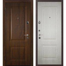 Дверь входная металлическая Меги 577 левая 2050х970 мм снаружи МДФ 4064 Темный дуб внутри МДФ 5064 Светлый дуб