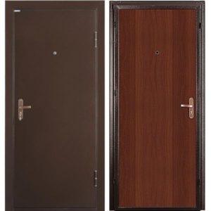 Дверь входная металлическая Промет Б2 Спец правая 2050х850 мм снаружи металл Антик медный внутри МДФ Итальянский орех