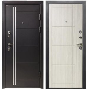 Дверь входная металлическая Промет С4 Гранит правая 2066х980 мм снаружи металл Черный муар внутри МДФ Бодега рубин