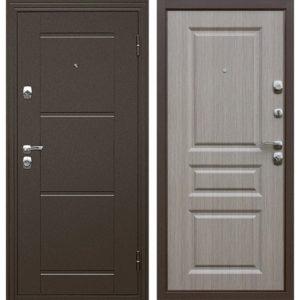 Дверь входная металлическая  Эстет правая 860×2050 мм Светлый дуб