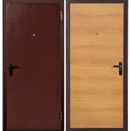 Дверь входная металлическая Меги 110 правая 2050х970 мм снаружи металл Медный антик внутри ХДФ Миланский орех