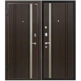 Дверь входная металлическая МеталЮр М2 левая 2050х860 мм снаружи и внутри МДФ Венге