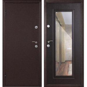 Дверь входная металлическая  Элегия левая 2050х860 мм Венге с ручкой