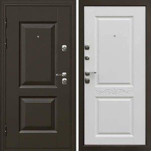 Дверь входная металлическая  Гранд левая 860×2050 мм белая