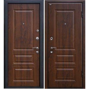 Дверь входная металлическая МеталЮр М11 левая 2050х860 мм снаружи и внутри МДФ винорит Темный орех
