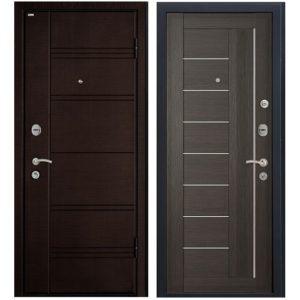 Дверь входная металлическая МеталЮр М17 правая 2050х860 мм снаружи МДФ Темная ива МДФ Грей мелинга матовое стекло
