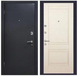 Дверь входная металлическая МеталЮр М41 левая 2050х860 мм снаружи металл Черный шелк внутри МДФ Магнолия Unilack