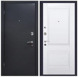 Дверь входная металлическая МеталЮр М41 левая 2050х860 мм снаружи металл Черный шелк внутри МДФ Аляска Unilack