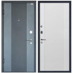Дверь входная металлическая МеталЮр М27 левая 2050х860 мм снаружи металл Черный бархат внутри МДФ Аляска