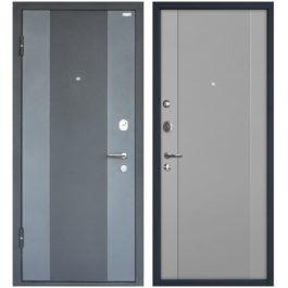 Дверь входная металлическая МеталЮр М27 левая 2050х860 мм снаружи металл Черный бархат внутри МДФ Манхеттен