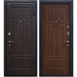 Дверь входная металлическая МеталЮр М5 правая 2050х960 мм снаружи МДФ винорит Венге внутри МДФ винорит Темный орех