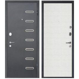 Дверь входная металлическая МеталЮр М29 правая 2050х960 мм снаружи металл Черный бархат внутри МДФ Дуб французский сильвер